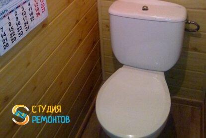 Отделка туалета панелями 1,8 м2