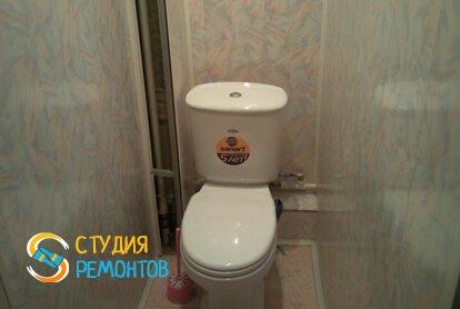 Отделка туалета панелями 2 м2