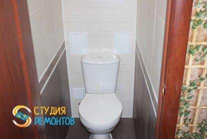 Отделка туалетной комнаты панелями 1,6 кв.м.