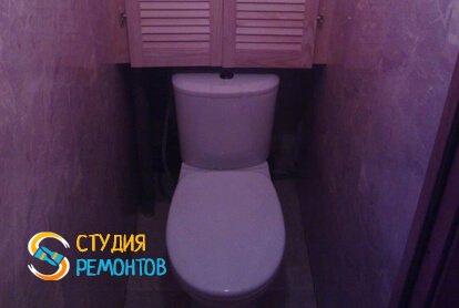 Отделка туалетной комнаты панелями 2 кв.м.