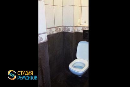 Отделка туалета плиткой 1,2 м2