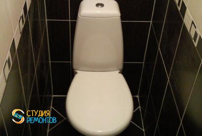 Отделка туалета плиткой 1,6 м2
