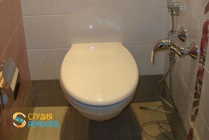 Отделка туалета плиткой 2 м2