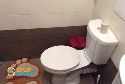 Отделка туалета плиткой 3 кв.м.