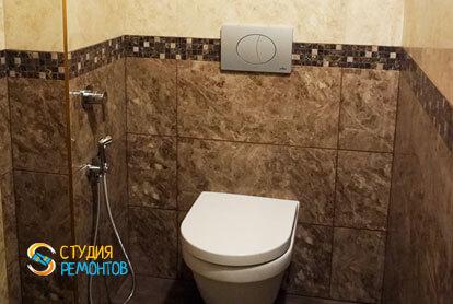 Отделка туалета плиткой 4 кв.м.