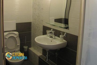 Отделка туалета плиткой 4 м2