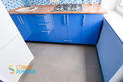 Пример капитального ремонта кухни в 1-к квартире 32 кв.м., фото-2