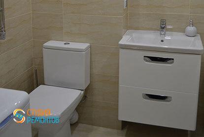 Пример капитального ремонта санузла в 1-к квартире 32 кв.м. фото-2
