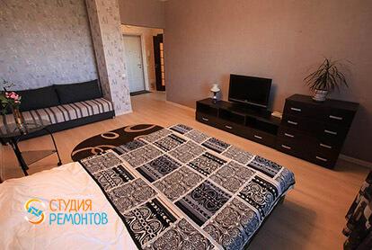 Пример капремонта спальни в однокомнатной квартире 34 м2