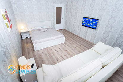 Пример ремонта жилой комнаты в однокомнатной квартире 36 м2