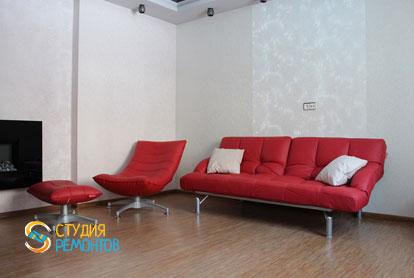 Евроремонт гостиной в двухкомнатной квартире 57 кв.м.