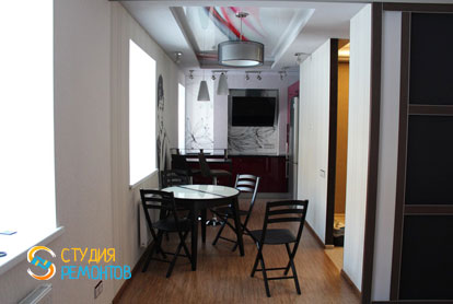 Евроремонт кухни в двухкомнатной квартире 57 кв.м.