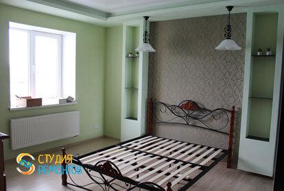 Евроремонт спальни в двухкомнатной квартире 57 кв.м.