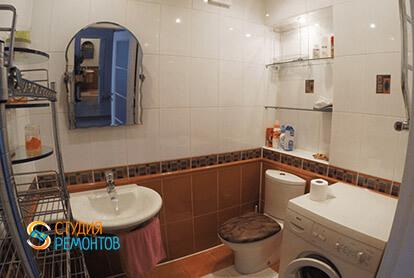 Пример евроремонта санузла в трехкомнатной квартире 75 кв.м.