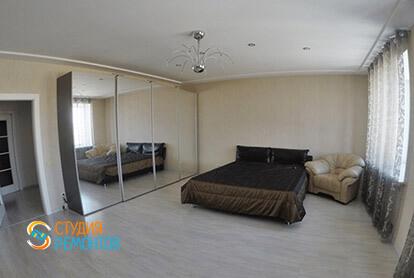 Пример евроремонта спальни в трехкомнатной квартире 75 кв.м.