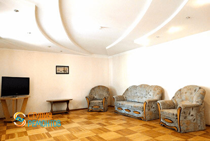 Пример капремонта гостиной в 3-х комнатной квартире 72 кв.м.