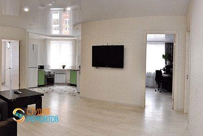 Пример капитального ремонта кухни-гостиной в 4-х комнатной квартире 76 кв.м.
