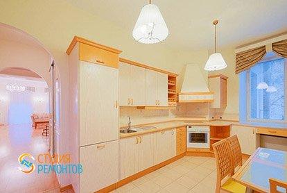 Пример ремонта кухни в четырехкомнатной квартире 93 м2