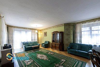 Пример ремонта кухни с залом в 5-комнатной квартире 110 кв.м., фото-2