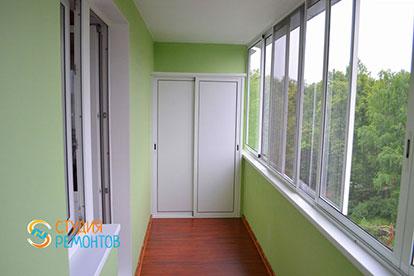 Косметический ремонт балкона 5 кв.м.