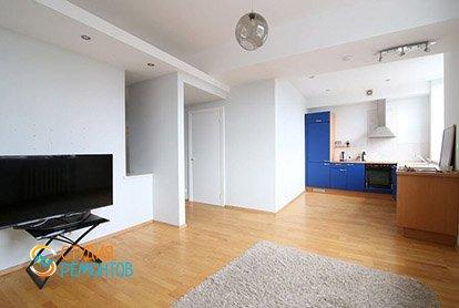 Пример евроремонта жилой комнаты в студии 29 м2, фото-2