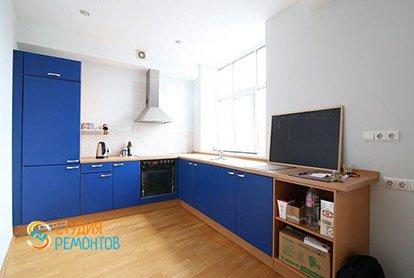 Пример евроремонта жилой комнаты в студии 29 м2, фото-1