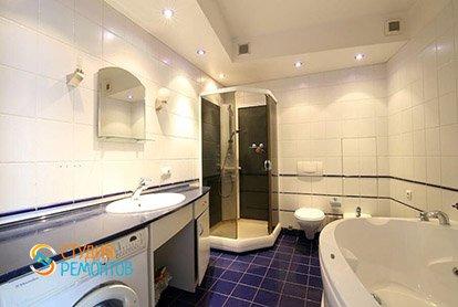 Пример евроремонта ванной в студии 29 м2