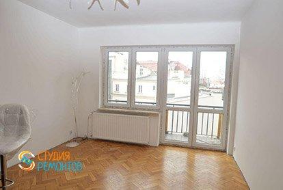 Пример ремонта комнаты-кухни в студии 23 кв.м., фото-2