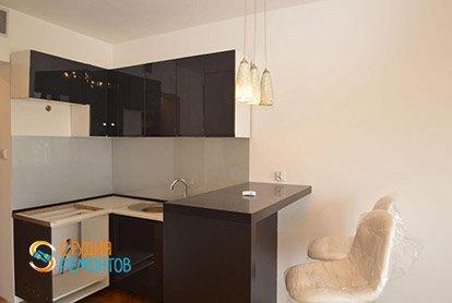 Пример ремонта комнаты-кухни в студии 23 кв.м., фото-1