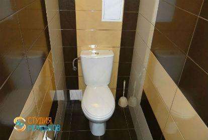 Косметический ремонт туалета 1,8 кв.м.