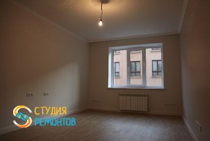 Ремонт жилой комнаты под ключ в однокомнатной квартире 45 кв.м.