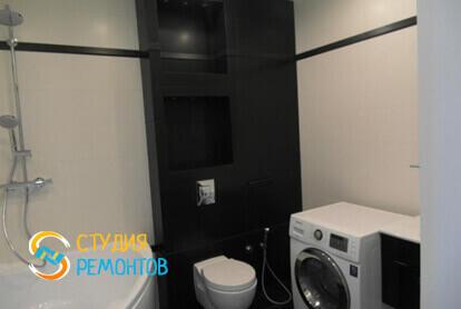Капитальный ремонт санузла в однокомнатной квартире 35 кв.м. фото-2