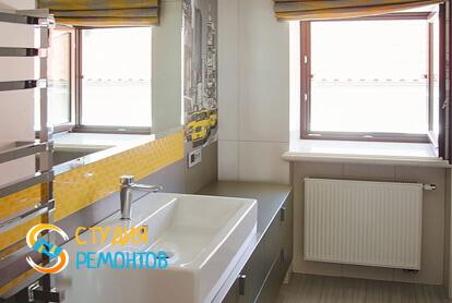 Капитальный ремонт санузла в однокомнатной квартире 43,8 кв.м. фото-1