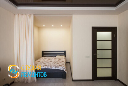 Капитальный ремонт спальни в однокомнатной квартире 35 кв.м. фото-2