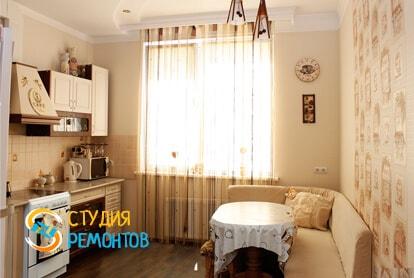 Капитальный ремонт кухни в однокомнатной новостройке 33 кв.м. фото-1