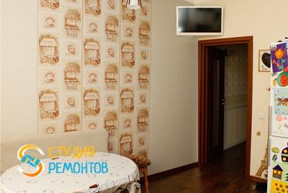 Капитальный ремонт кухни в однокомнатной новостройке 33 кв.м. фото-2