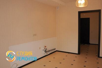 Капитальный ремонт кухни в однокомнатной новостройке 43 кв.м. фото-2