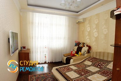 Капитальный ремонт спальни в однокомнатной новостройке 33 кв.м.