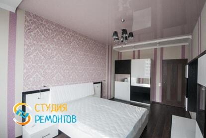 Капитальный ремонт спальни в однокомнатной новостройке 34,7 кв.м.