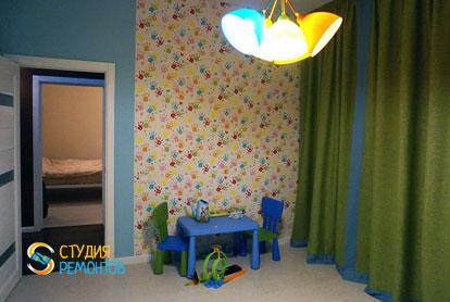 Ремонт детской в двухкомнатной квартире 61 кв.м. под ключ фото-1