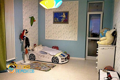 Ремонт детской в двухкомнатной квартире 61 кв.м. под ключ фото-2