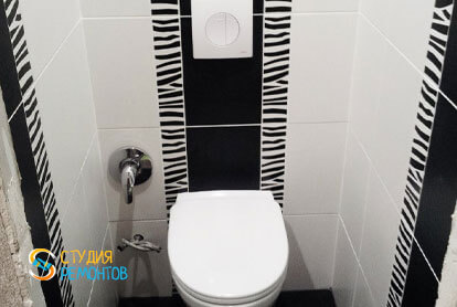 Ремонт туалета в двухкомнатной квартире 51,8 кв.м. под ключ