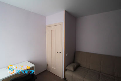 Евроремонт спальни в двухкомнатной хрущевке 53,5 кв.м. фото-2
