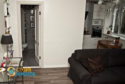 Капитальный ремонт кухни-гостиной в двухкомнатной хрущевке 48 кв.м.