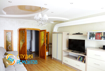 Евроремонт гостевой в двухкомнатной квартире 68 кв.м.