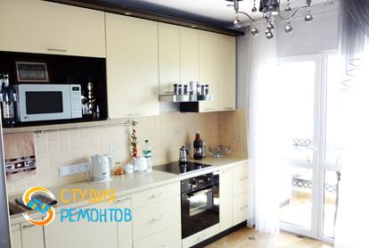 Евроремонт кухни в двухкомнатной квартире 68 кв.м. фото 1