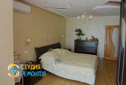 Евроремонт спальни в двухкомнатной квартире 68 кв.м.