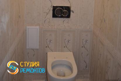 Евроремонт туалета в двухкомнатной квартире 68 кв.м.