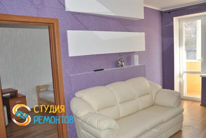 Капитальный ремонт гостиной в двухкомнатной квартире 37,4 кв.м. фото 1