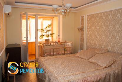 Косметический ремонт спальни в двухкомнатной квартире 43 кв.м.